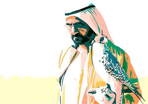 Sheikh Mohammed valk rechts.jpg
