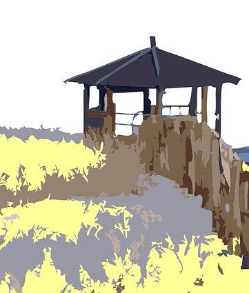 Noordwijk strand met tuinhuisje 2 juli_e