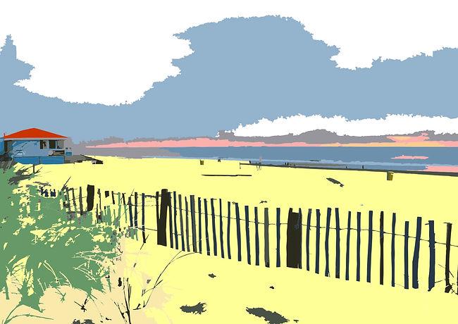 Noordwijk strand met hekjes.jpg
