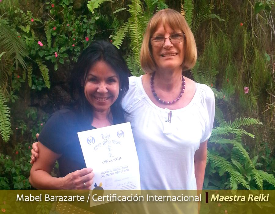 Mabel Barazarte / Certificación en Reiki