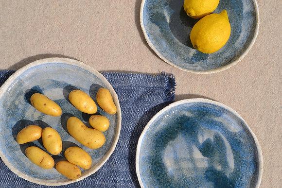 assiette à dessert ALMA GRES BLUE 2