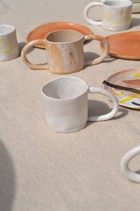 tasse en grès anse simple WHITE