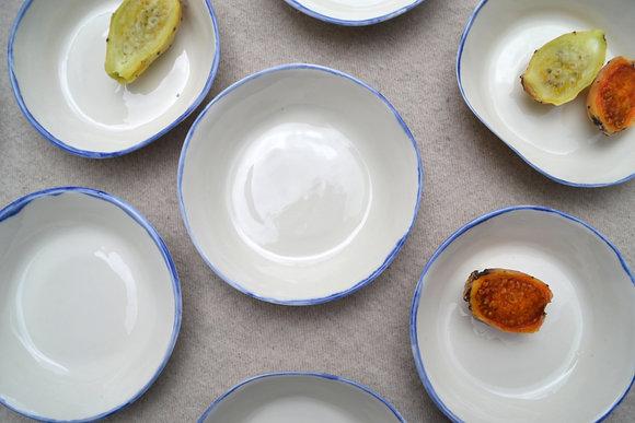 petite assiette creuse LOULOU BORD BLUE