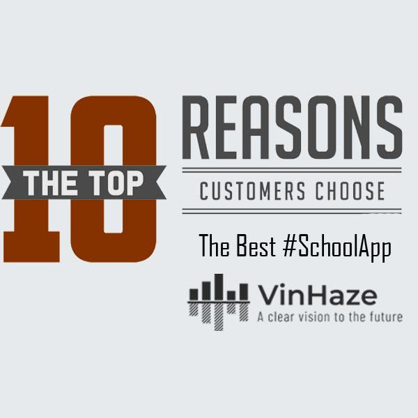 10 reasons to choose the best schoolapp VinHaze