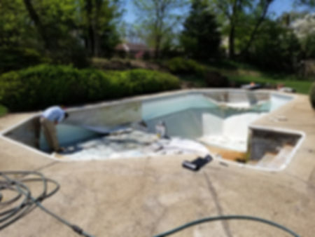 POOL VINYL LINER BEFORE