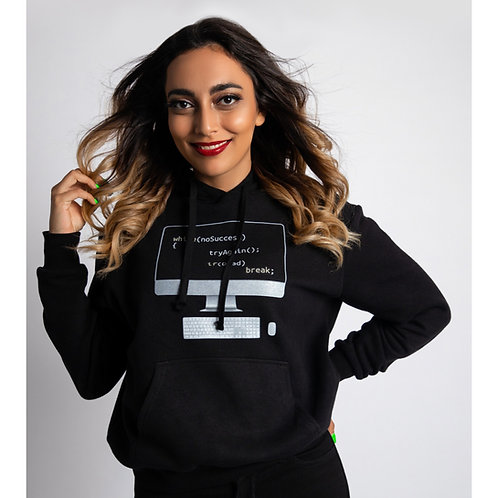 Tech Love Women Black Hoodie