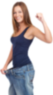 Young woman delighted with her dieting r