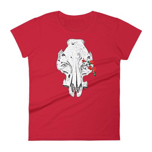 Skull & Flowers Ladies Classic Fit T-shirt