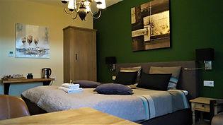 Impressie van één van de kamers in B&B Johannes-Hoeve.