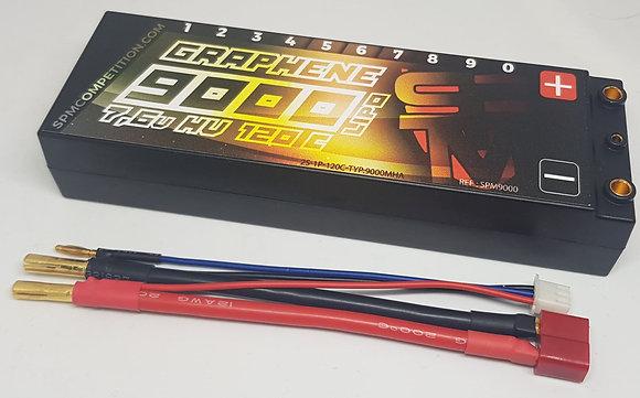 batterie lipo graphene 9000mh 120c 7.6V HV