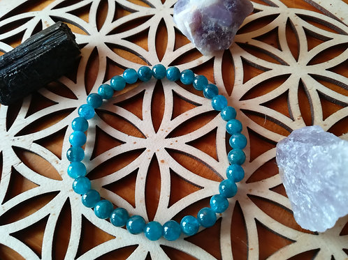 Apatite : bracelet perles 6mm