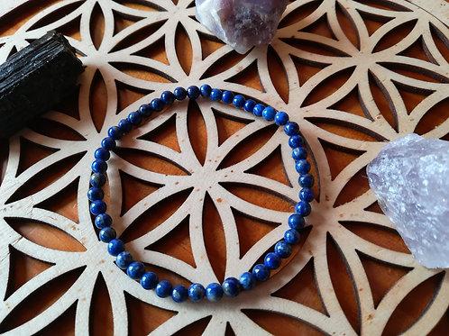 Lapis-Lazuli : bracelet perles 4mm