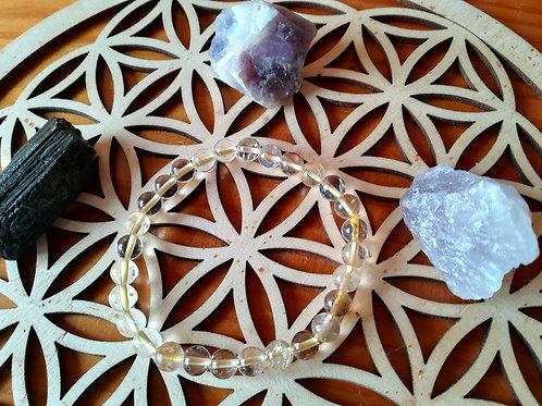 Citrine naturelle : bracelet perles 6mm