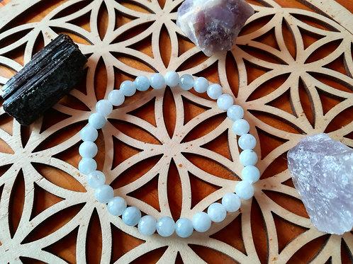 Aigue-Marine : Bracelet perles 6mm