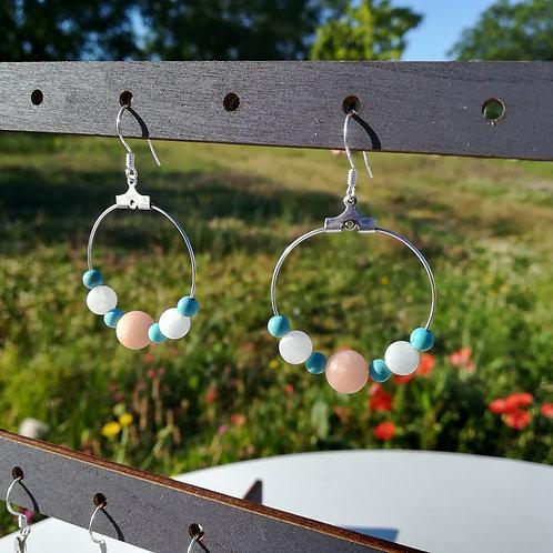 Esprit Créatif : Boucles d'oreilles en pierres naturelles