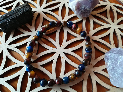 Protection 3 yeux : bracelet perles 6mm