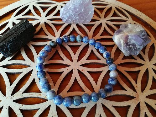 Sodalite : bracelet perles 6mm