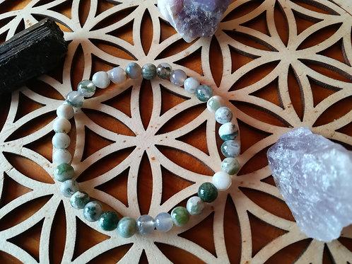 Agathe Arbre : bracelet perles 6mm