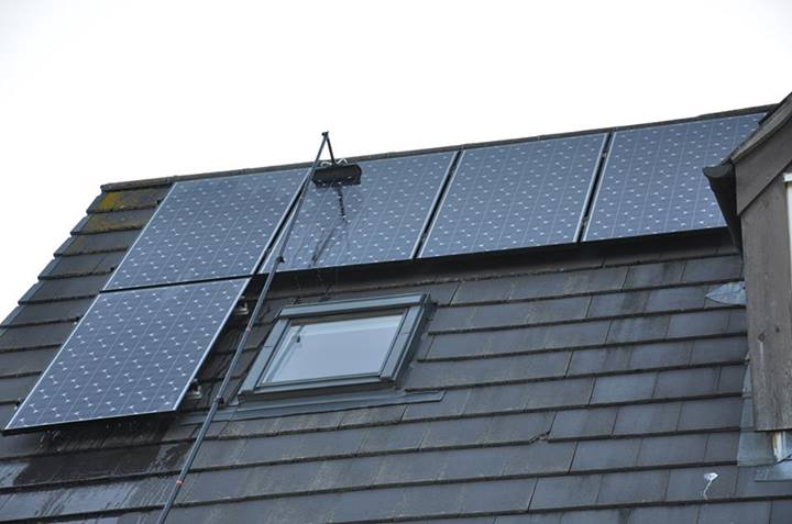 Solar panel cleaning in cornwall