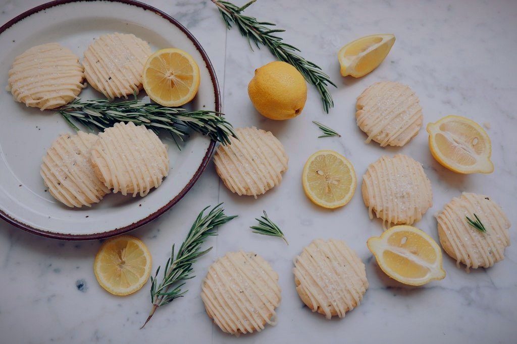 Meyer Lemon Rosemary Shortbread Cookies $1.89 ea
