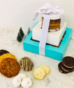 30-piece holiday tower, $65