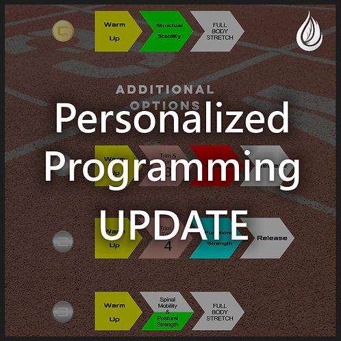 Personalized Programming Update