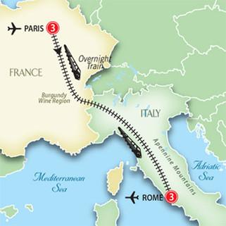 PERGUNTA: Roma-Paris, qual o melhor jeito de viajar?