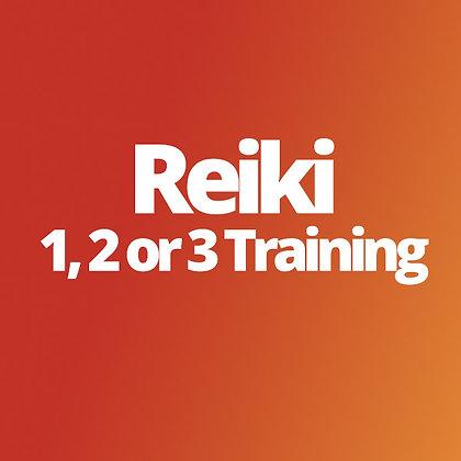 Reiki 1, 2 or 3 Training