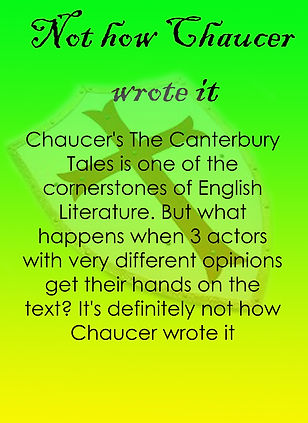 not how chaucer wrote it 2021 theate sla