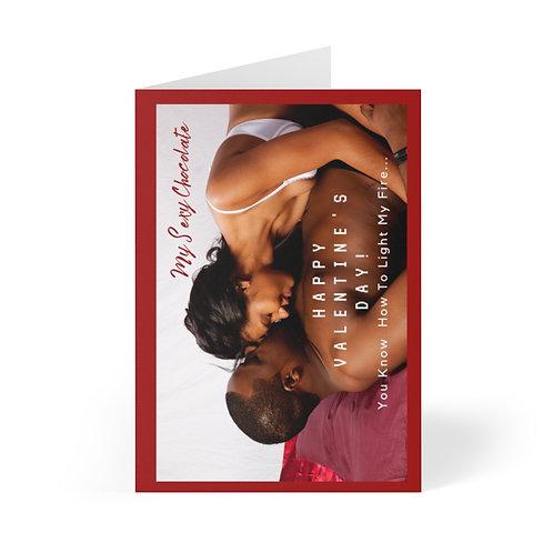 Chocolate Valentine's Greeting Cards (8 pcs)