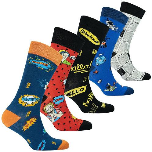 Pack of 5 Unisex Super Cool Socks
