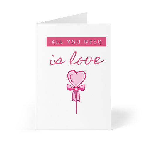 All You Need is Love Greeting Cards (8 pcs)