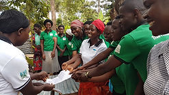 Suunu villager receive the land transfer