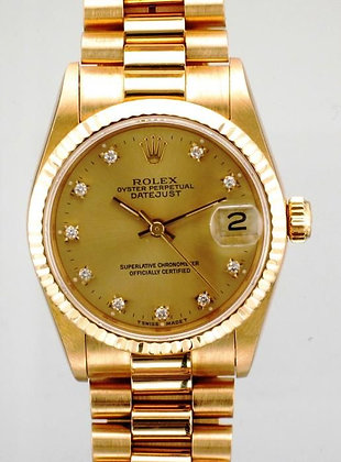 Midi 18ct Gold Rolex Datejust 6827 - £8495