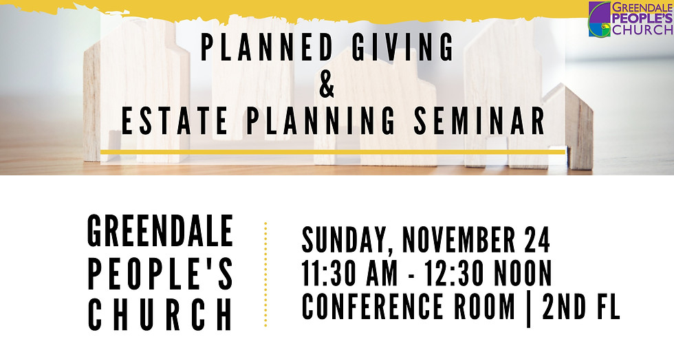 Planned Giving & Estate Planning