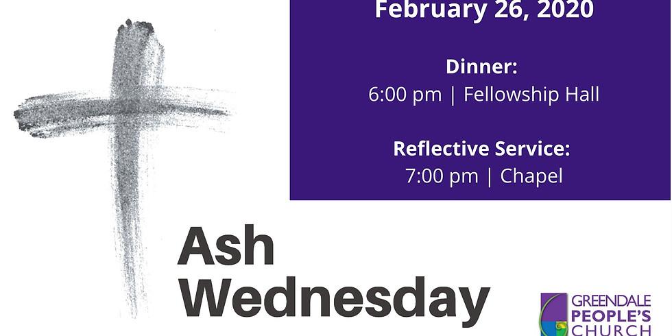 Ash Wednesday Dinner & Reflective Service