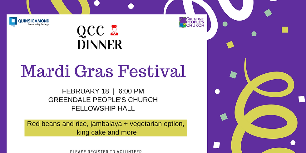 QCC Dinner February 18, 2020 Volunteer Sign up