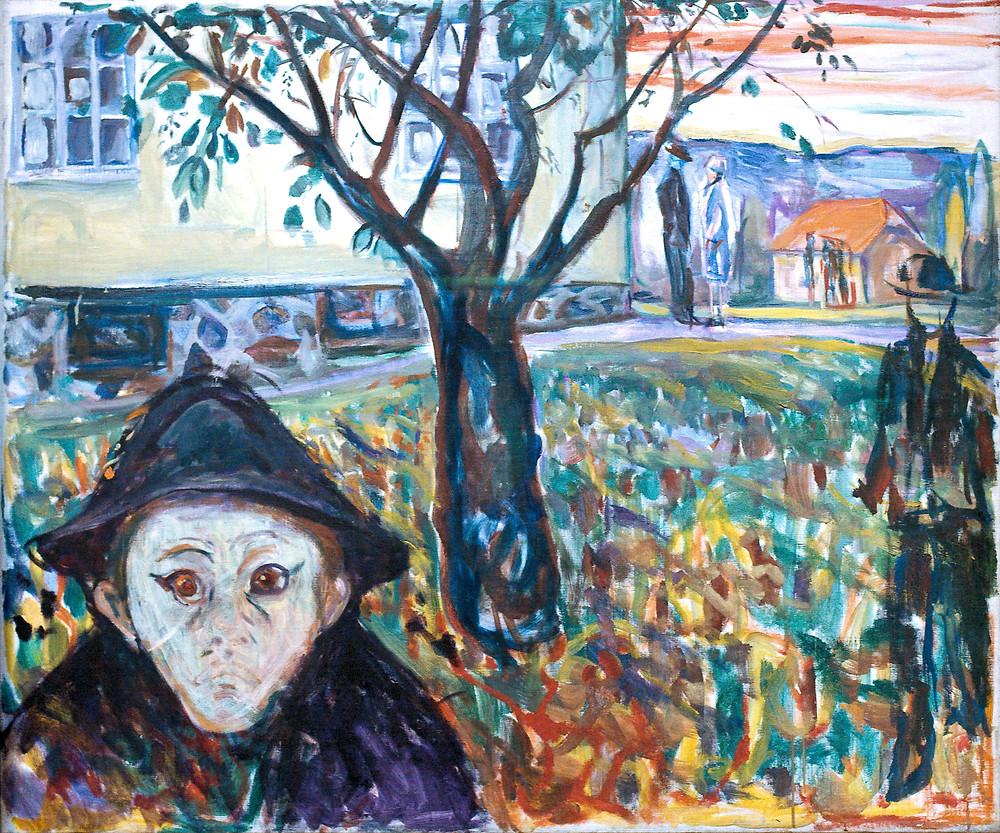 Jealousy In the Garden By Edvard Munch - Photograph Villy Fink Isaksen, Public Domain