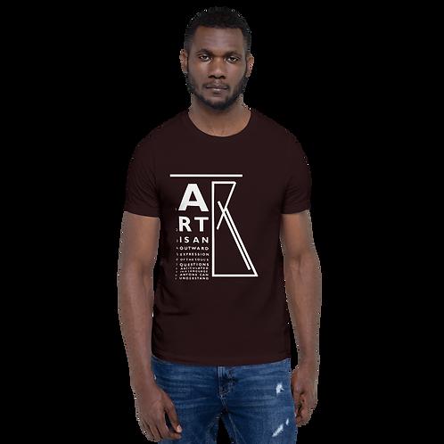 """""""ART is..."""" eye chart Short-Sleeve Unisex T-Shirt"""