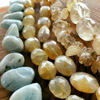 Citrine & Aquamarine Beads