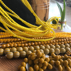 Yellow Color Therapy Beads