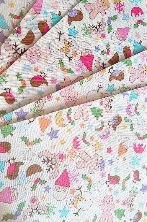 Christmas leatherette sheets
