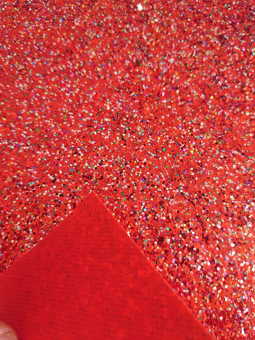 Red chunky canvas sheet