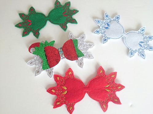 Snowflake feltie tails
