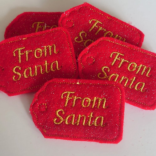 From Santa tag