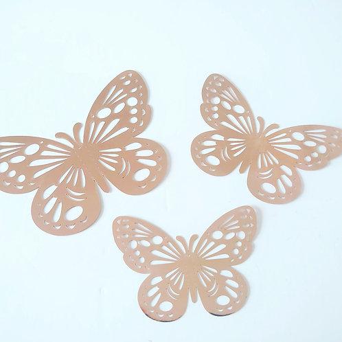 Rose gold butterflies