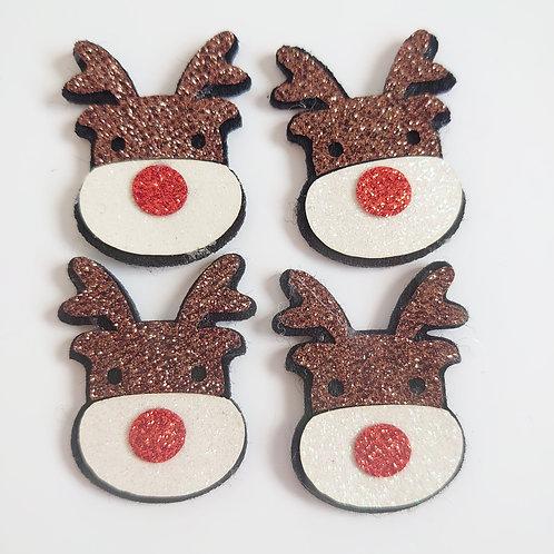 Reindeer felted Flatbacks