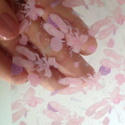 Ballet shoes transparent pvc jelly sheets