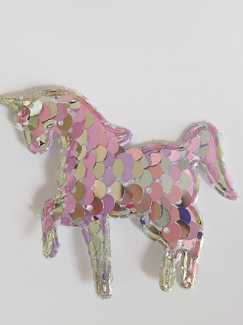 Sequin padded unicorn