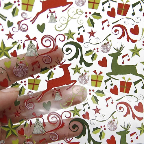 Christmas transparent pvc jelly sheets